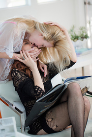 Hot babe Ashlyn Malloy, Samantha Rone in erotic picture