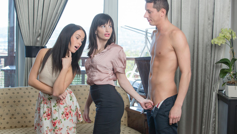 Flawless girl Megan Rain has sex on camera at babes.com