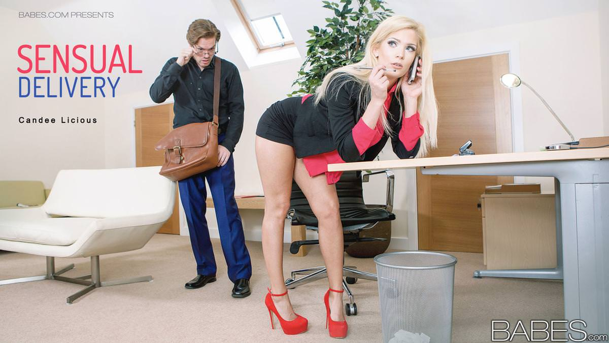 Babes office obsession stress relief starring ella hughe - 3 part 9