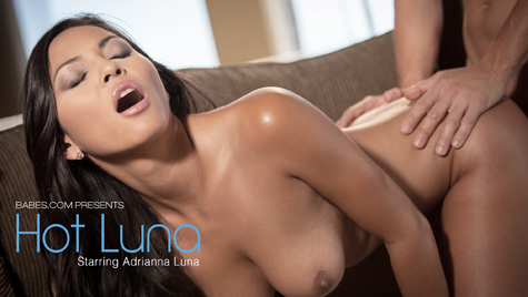 Flawless girl Adrianna Luna has sex on camera at babes.com