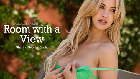 Flawless girl Sophia Knight has sex on camera at babes.com